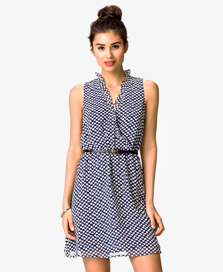 Шифоновое женское платье